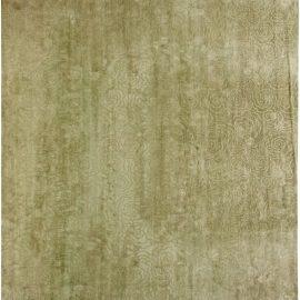 Green Camelia Silk Rug N10904