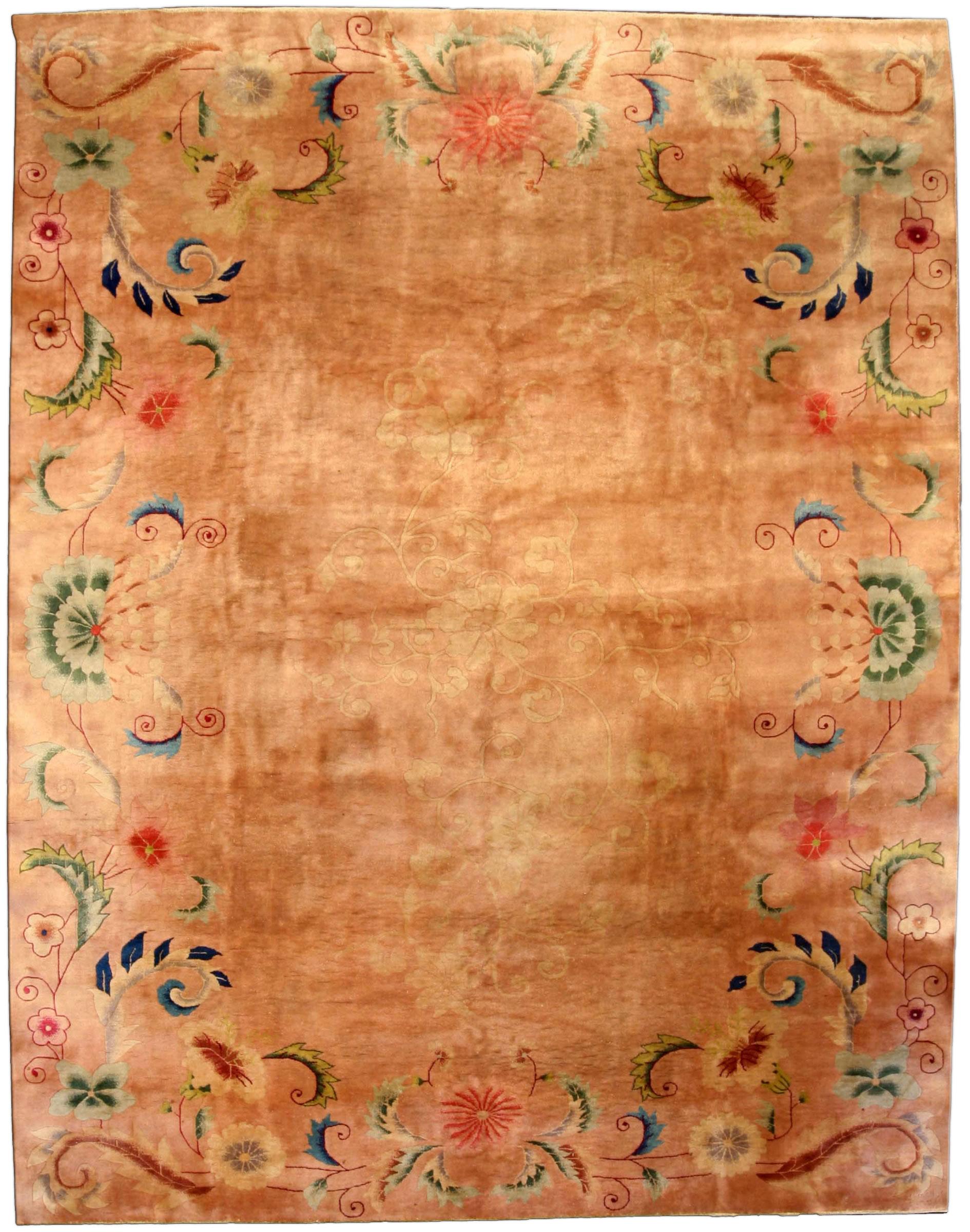Vintage Chinese Deco Carpet BB3829