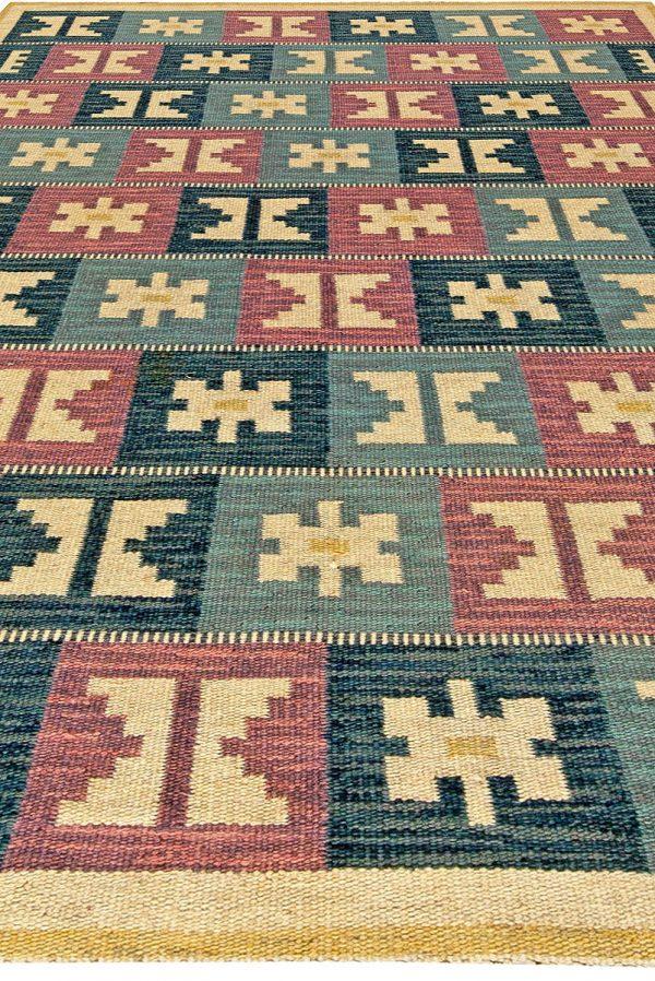Vintage de tejido plano sueca por Anna Greta Sjöqvist BB5686