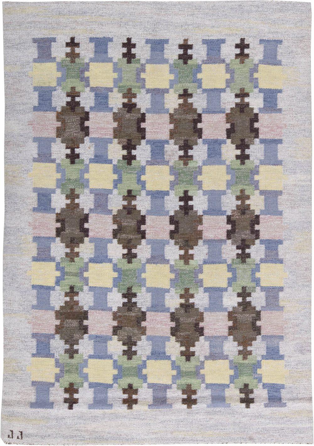 Vintage Swedish Flat Weave Rug by Judith Johansson BB6234