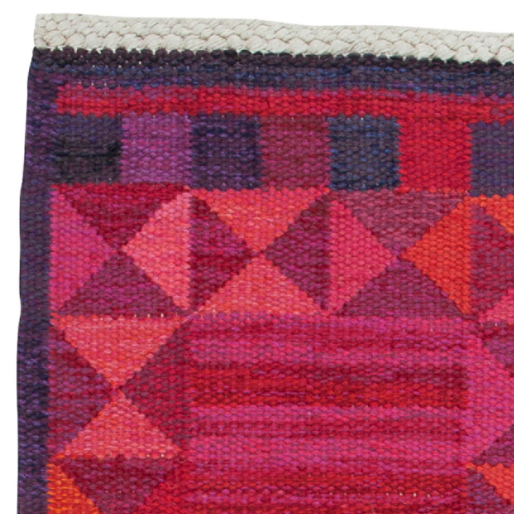 """Rubirosa Mid-Century Pink Rug by Marianne Richter. Woven signature to edge """"AB MMF MR"""" BB6119"""