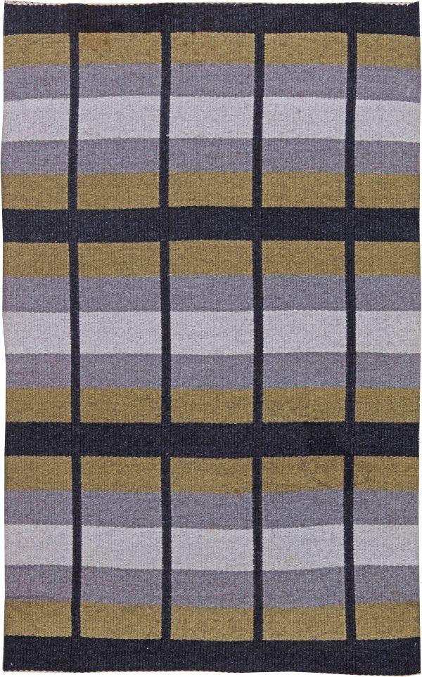 Vintage Swedish Flat Weave Reversible  Rug BB6241