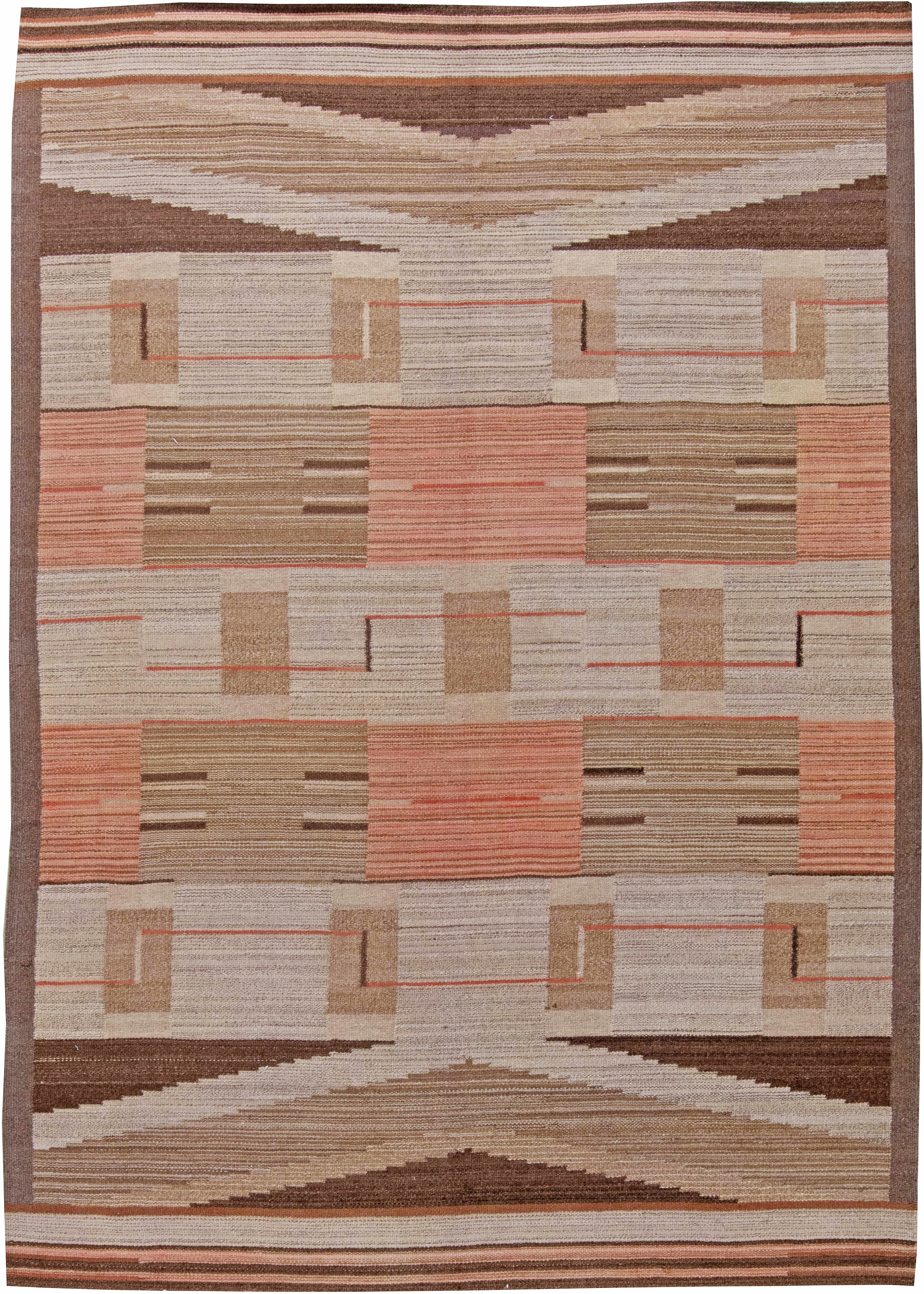Vintage Swedish Flat Weave Rug Bb6254 By Doris Leslie Blau