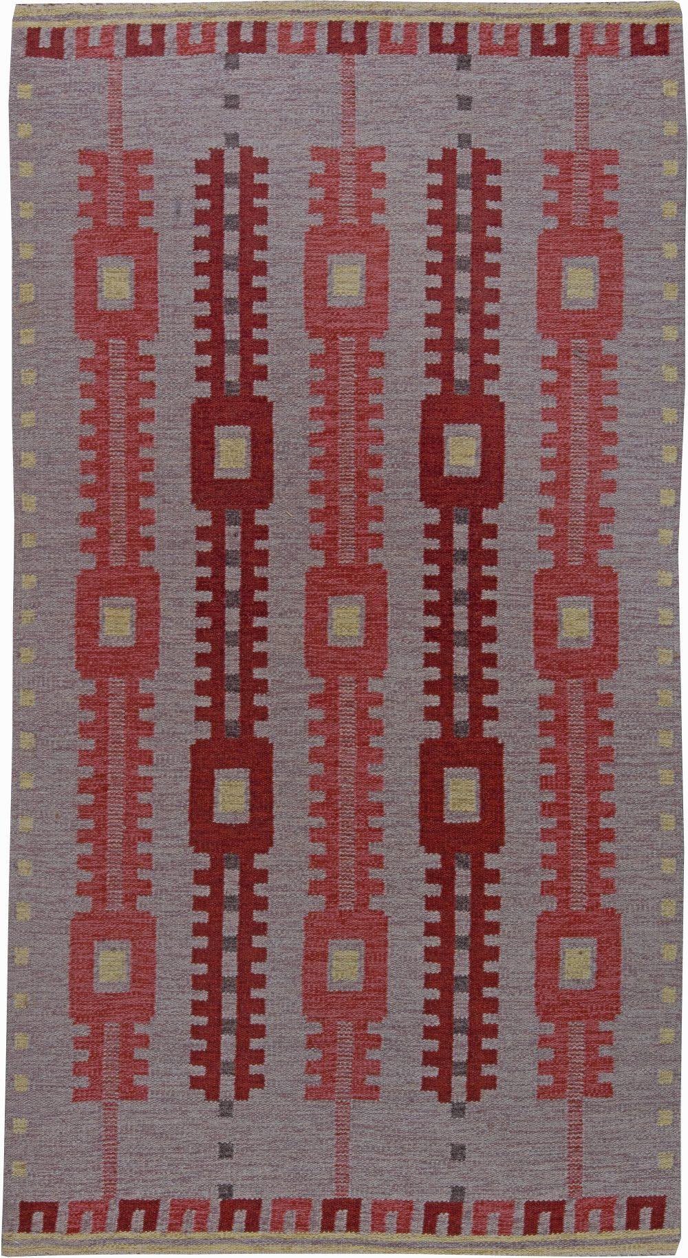 Vintage Swedish Flat Weave Rug BB6240