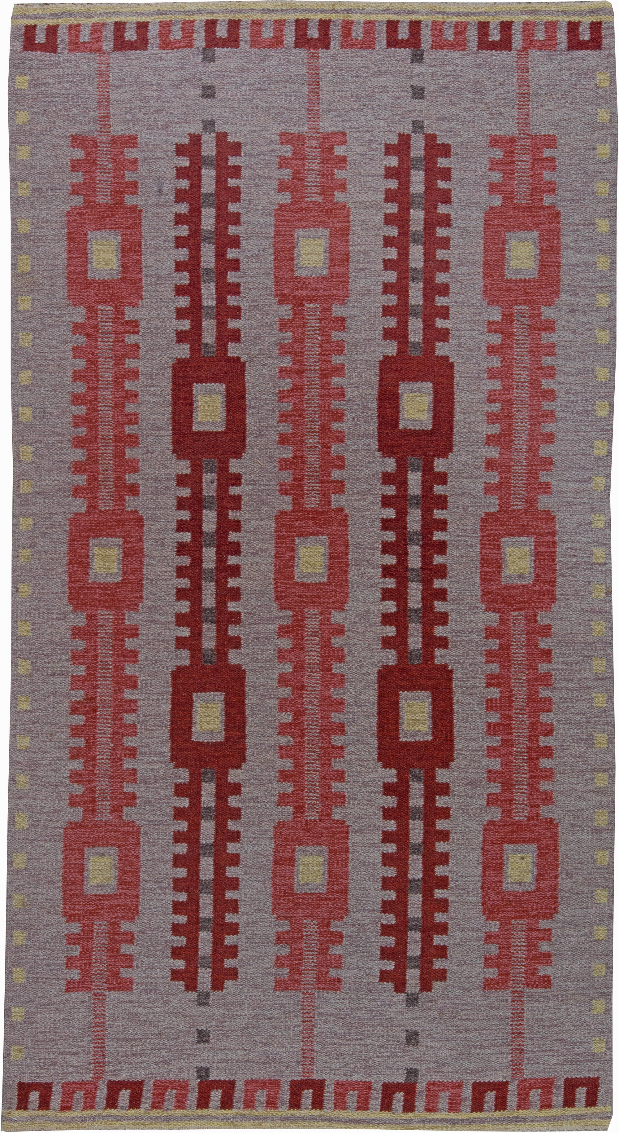 Vintage Swedish Flat Weave Rug BB6240