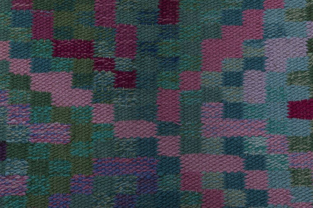 Vintage Swedish Flat Weave Runner Signed  Bice. BB6398