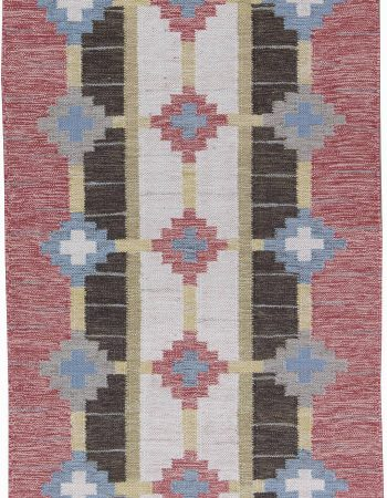 Vintage Swedish Flat Weave  Runner by Sverker Greuholm BB6247