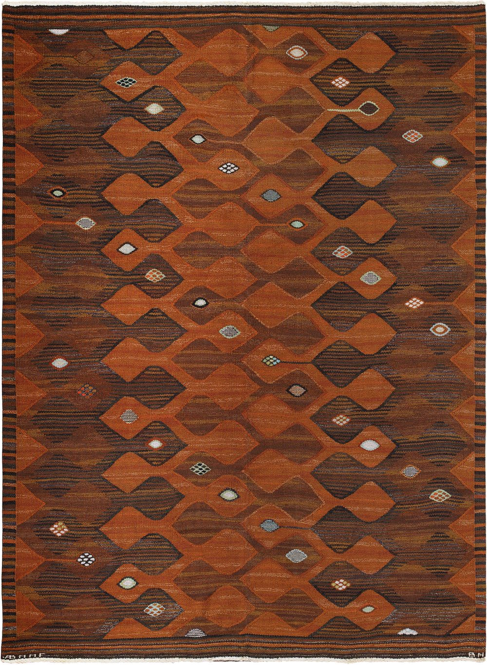 """Vintage Swedish Tapestry woven by Märta Måås-Fjetterström """"Finspong Tapestry"""" BB6003"""