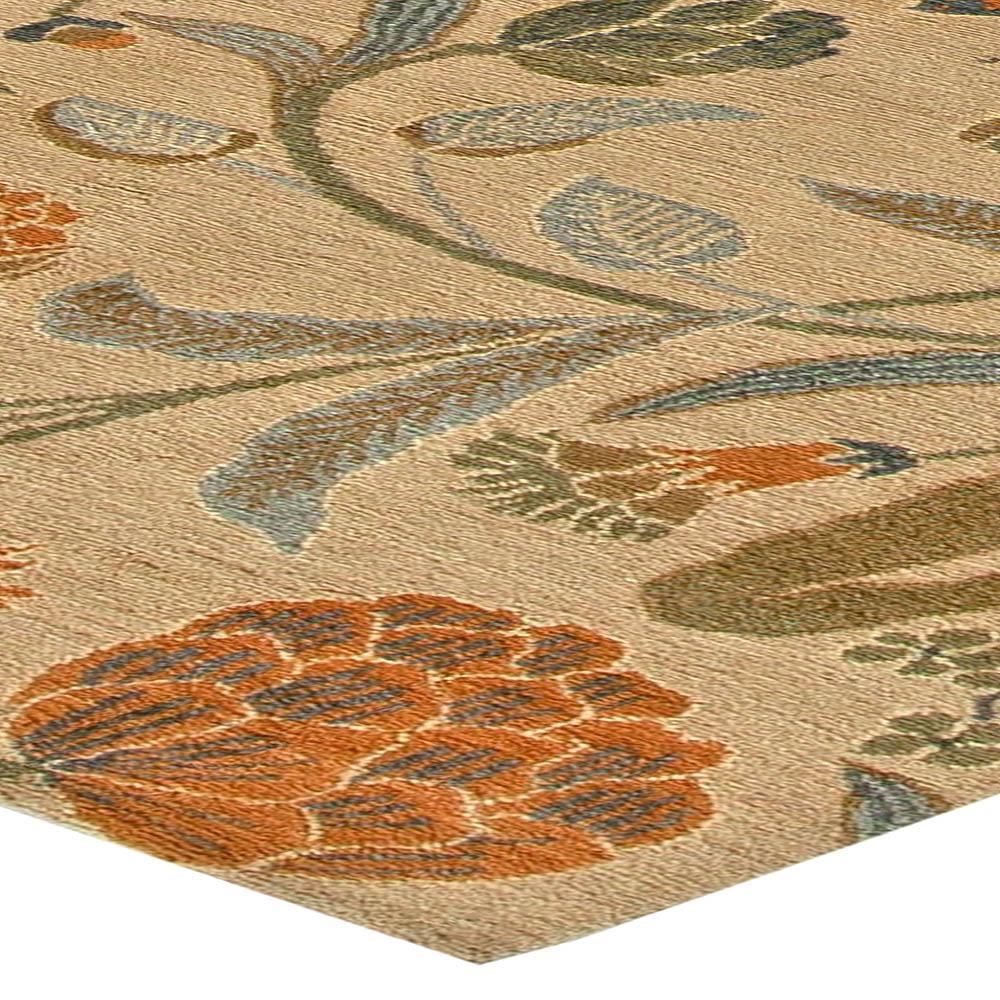 New Tibetan European Inspired Floral Wool Rug N11121
