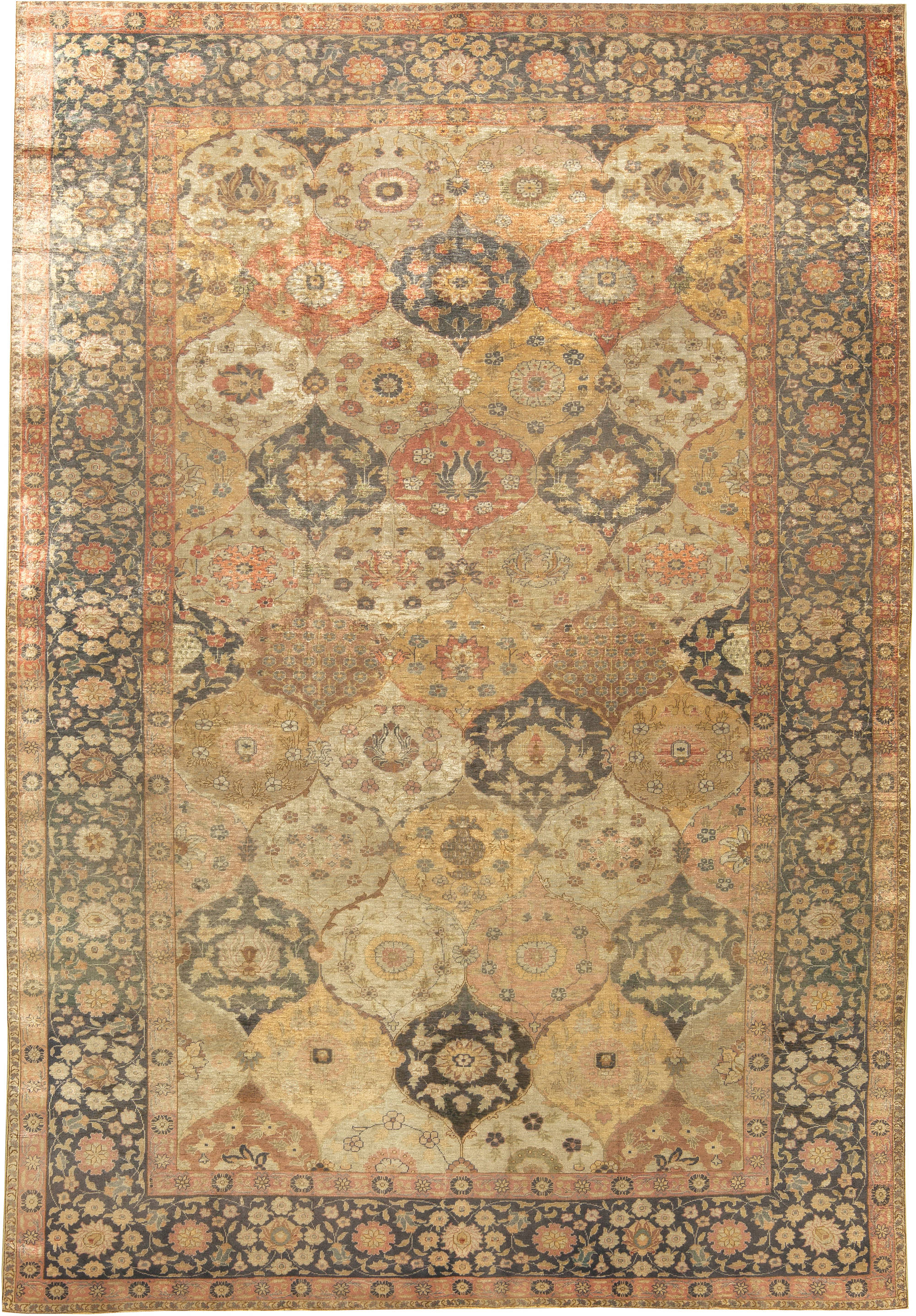 Antique Turkish Silk Hereke Rug BB6081