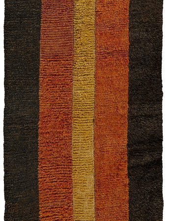 Antique Turkish Brown Flat-Weave Runner BB5768