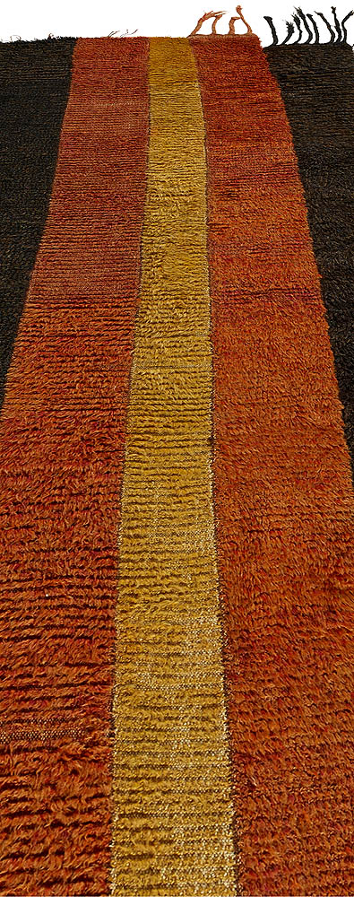 Uzbek Russia Julkhyr Brown, Dark Red and Honey Wool Runner BB5715