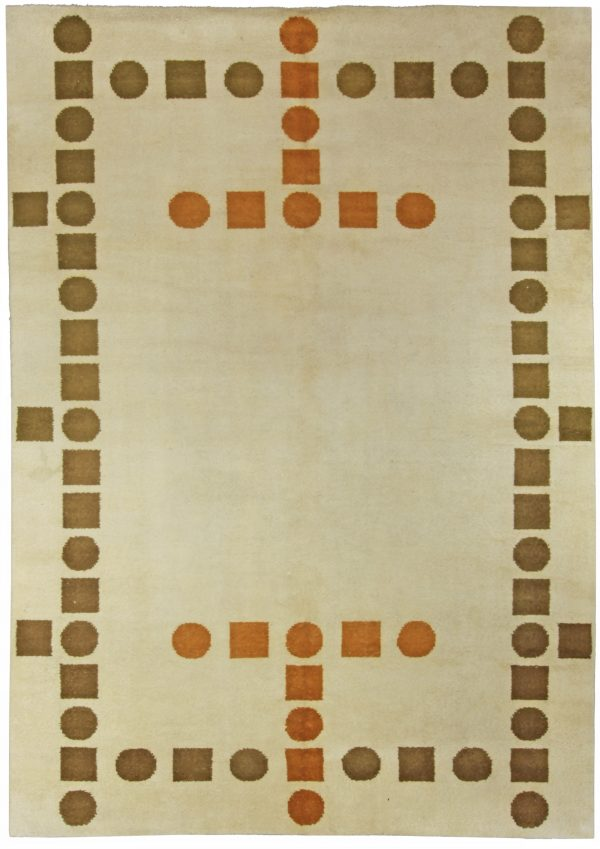 Vintage French Deco Rug BB5366