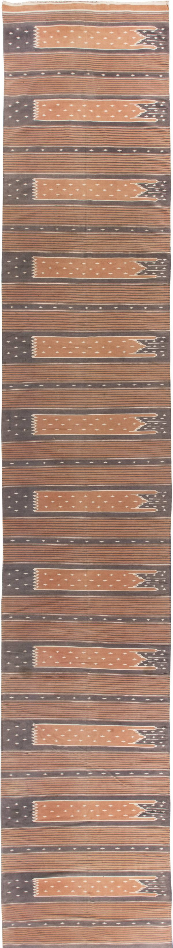 Dhurrie indiano do vintage Runner BB6285