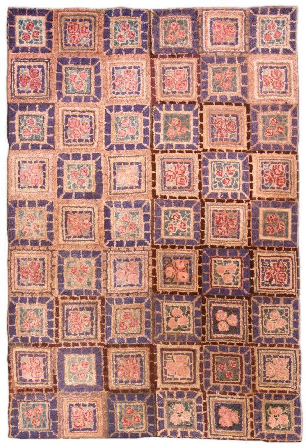 Vintage hooked Rug BB4598