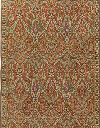 Persian Sultanabad Rug in Navy Blue, Greenish, Light Grey and Beige BB6389