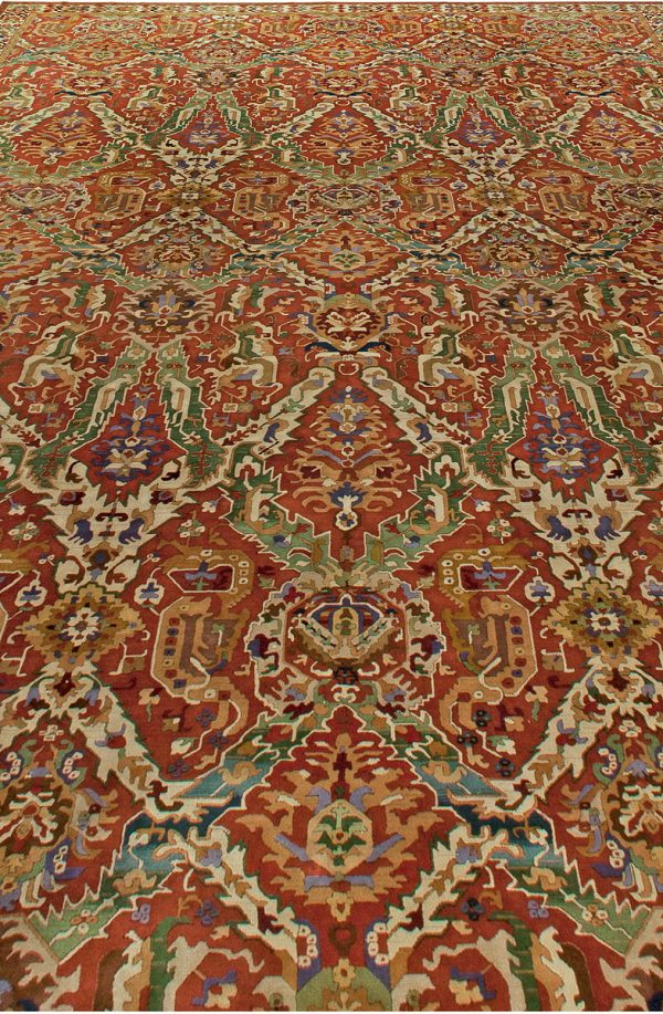 Vintage German Hooked Rug BB6041