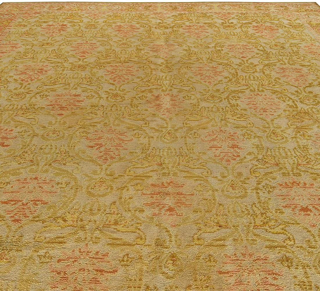 Spanish Botanic Design Handmade Wool Rug BB6033