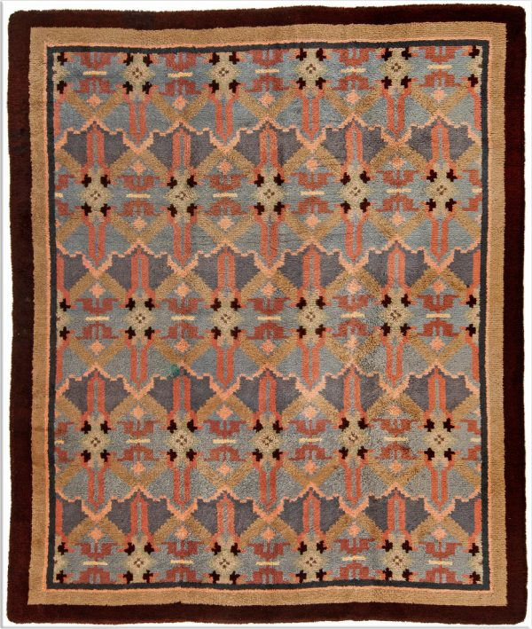 Vintage French Art Deco Rug BB4731