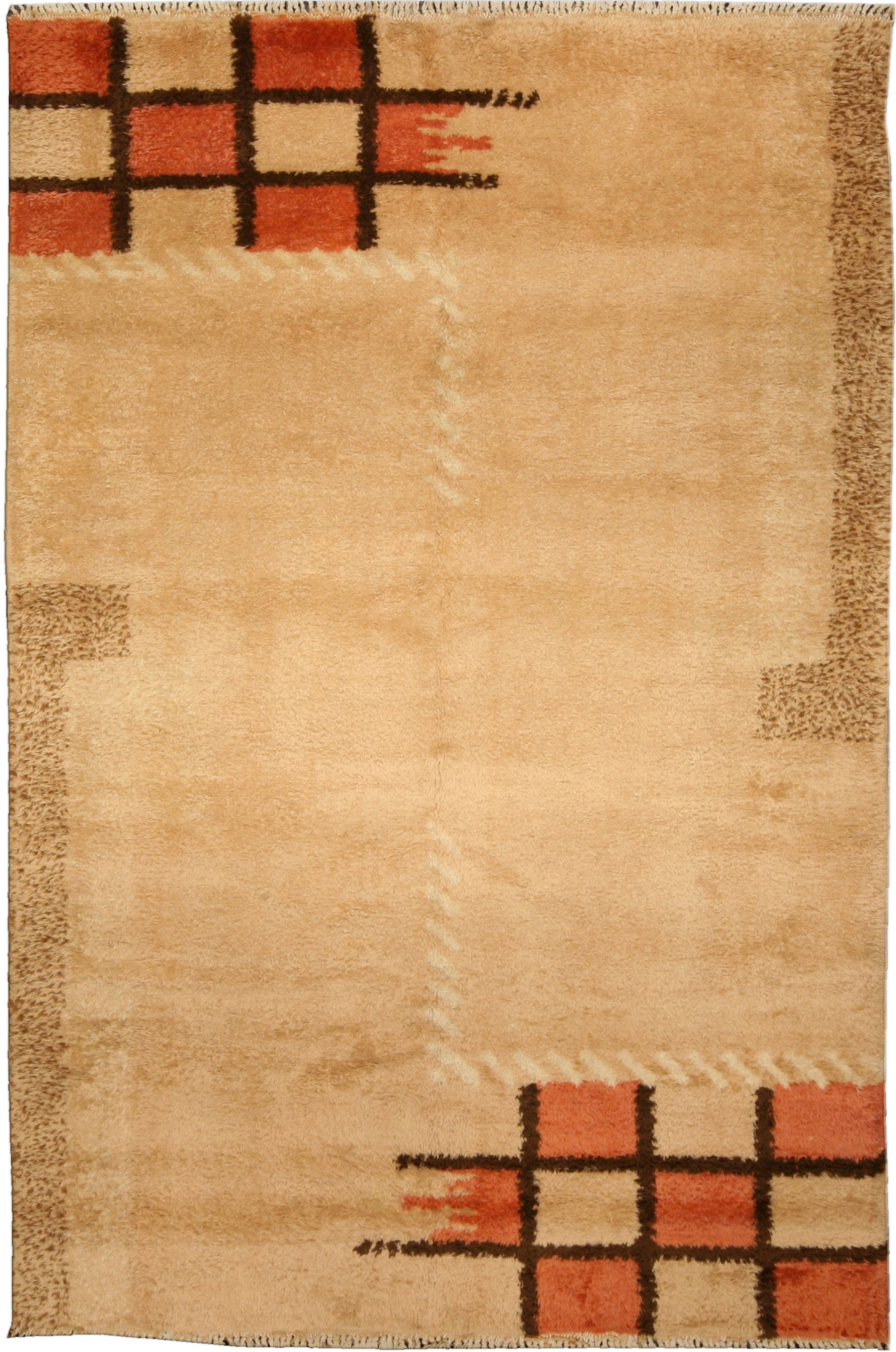 Vintage French Deco Rug BB4762
