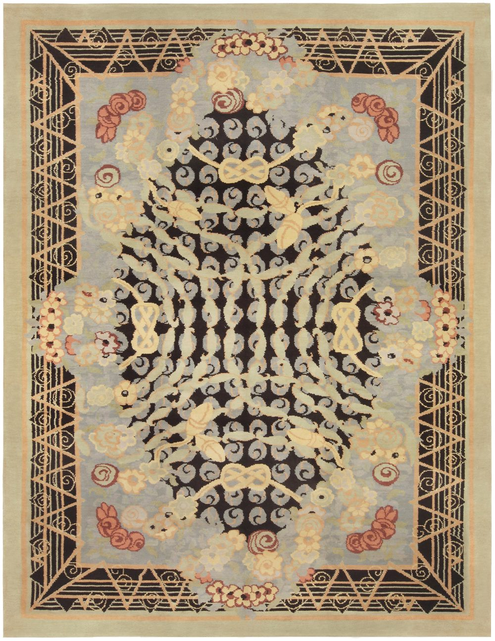 Vintage French Deco Rug BB5214