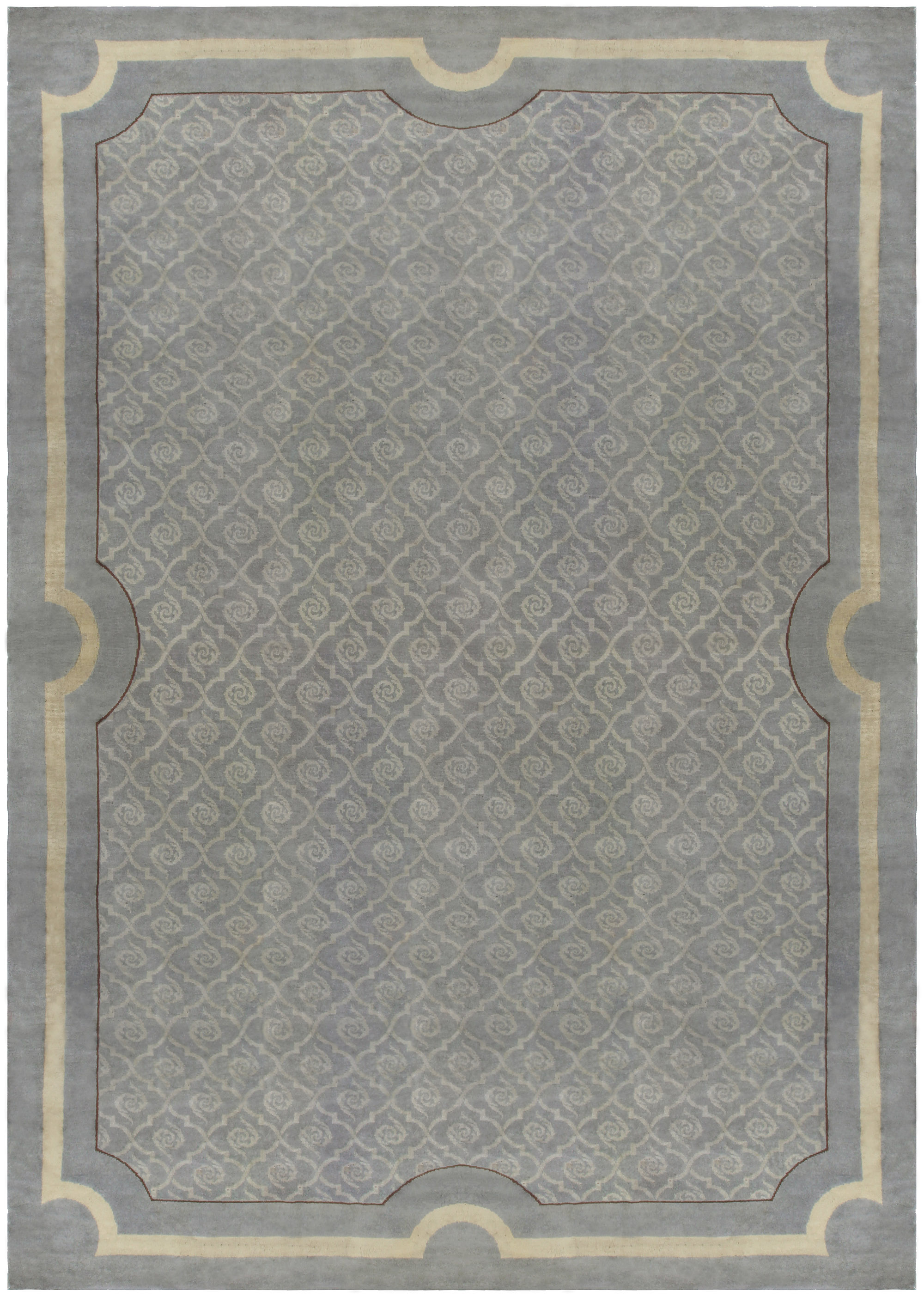 Vintage French Deco Rug BB5283