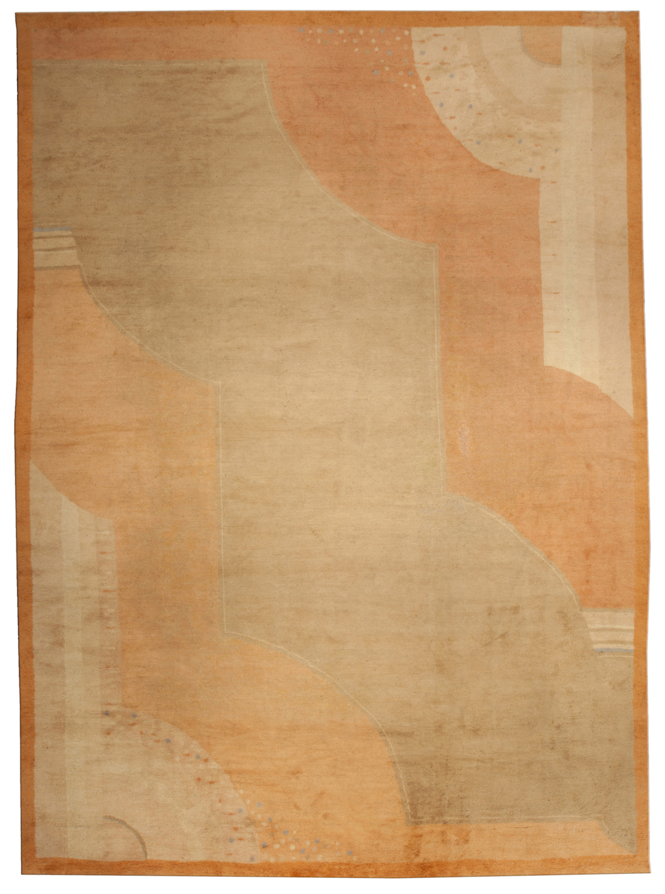 Vintage French Deco Rug BB4915