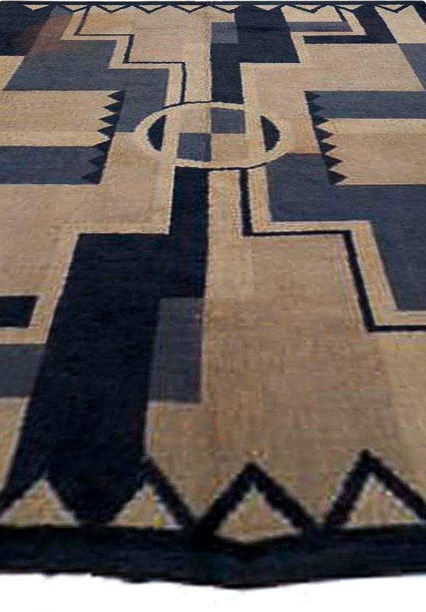 Vintage French Deco Rug by D.I.M. BB5372