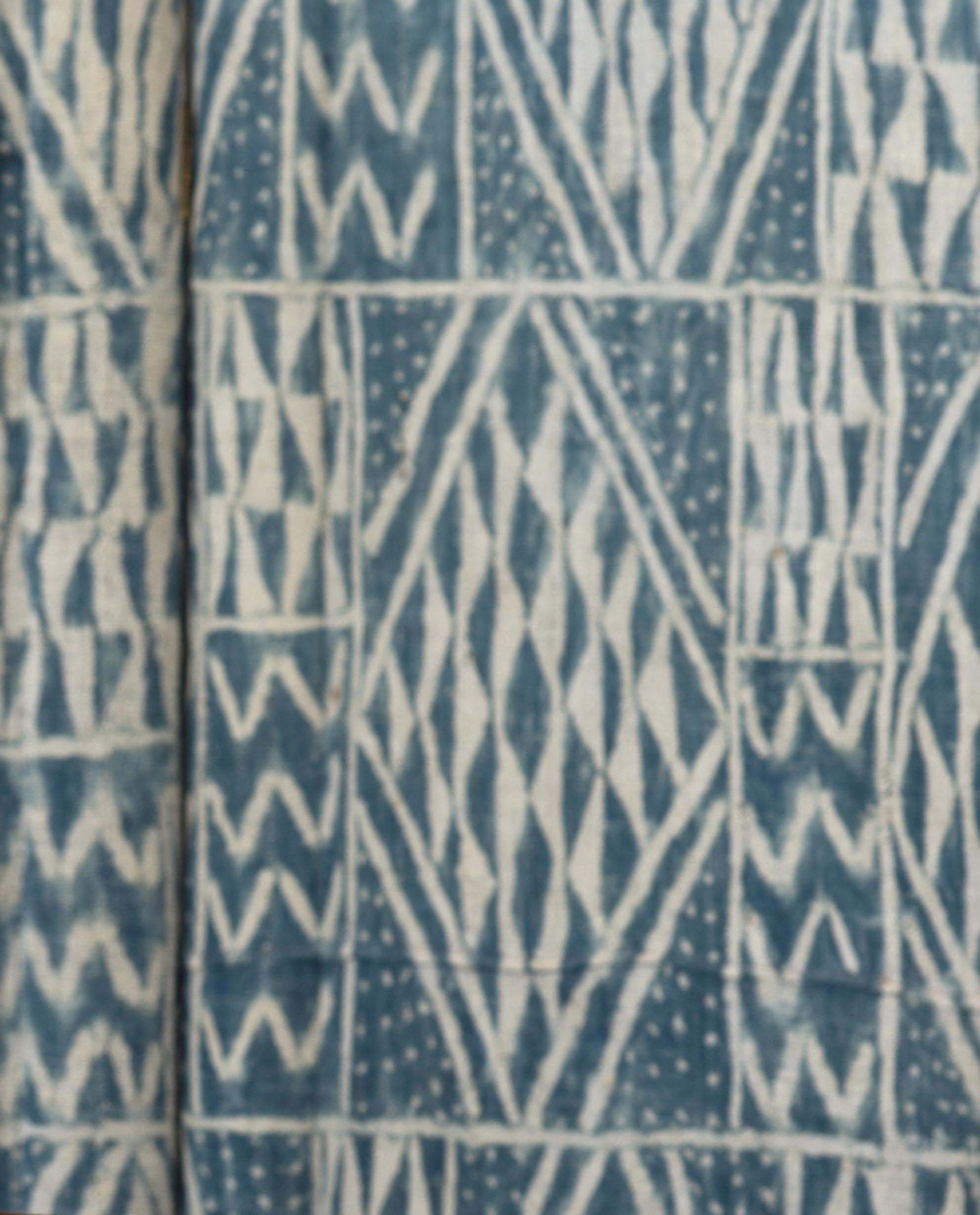 Vintage French Screen with Ikat Fabric BB5373