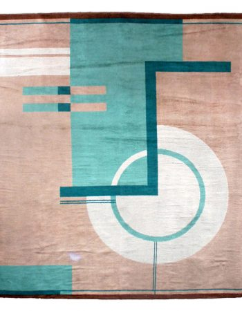 Vintage French Deco Rug by Paul Haesaerts for Elisabeth De Saedeleer BB5377