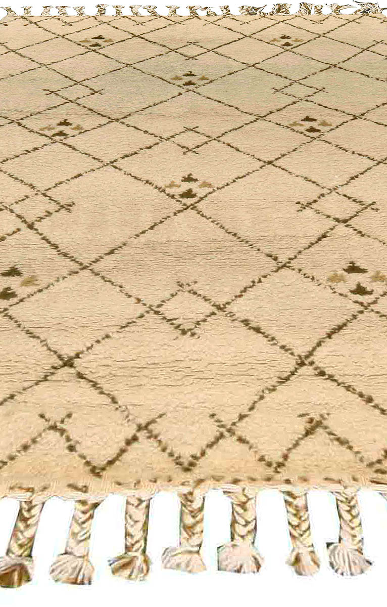 Vintage Tribal Hand-knotted Moroccan Rug with Geometric Design BB4565