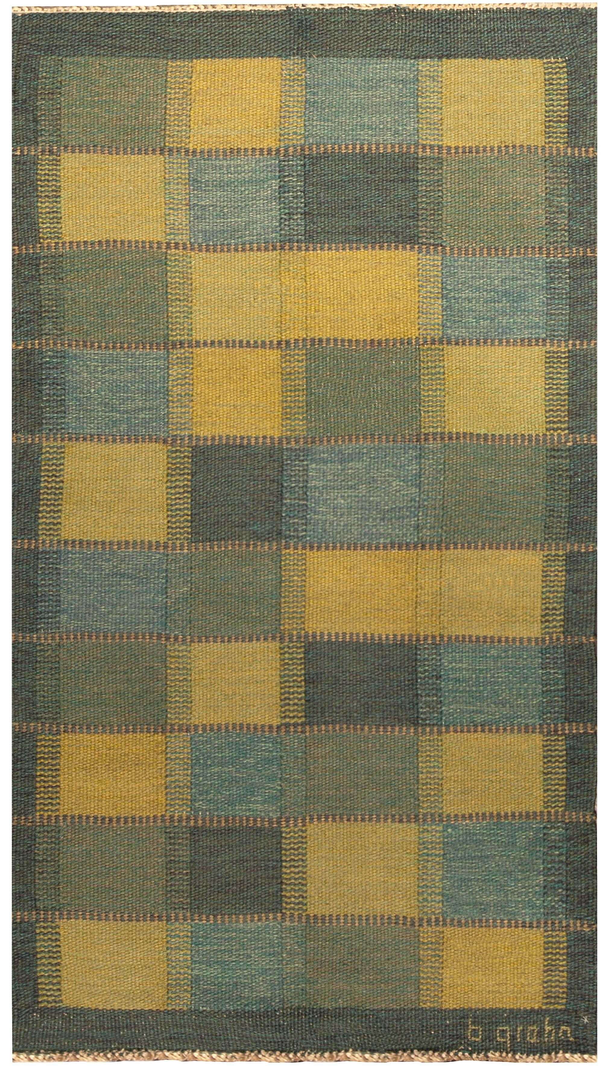 Vintage Swedish Flat Woven Rug BB4802