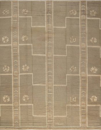 Vintage High-Low Scandinavian Rug BB4666
