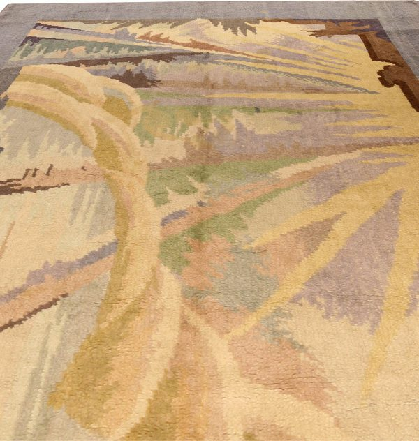 Vintage French Art Deco Rug BB4545