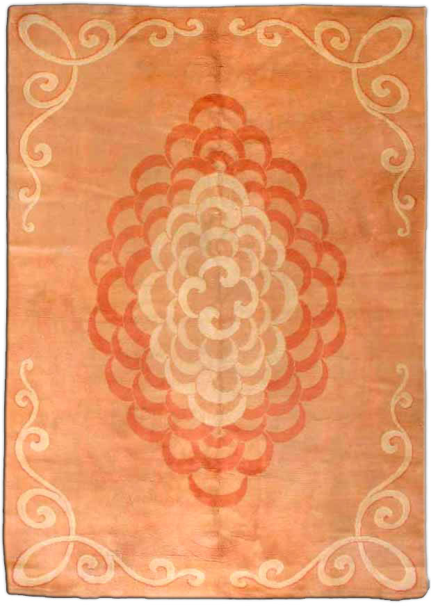 Vintage French Art Deco Rug BB3139