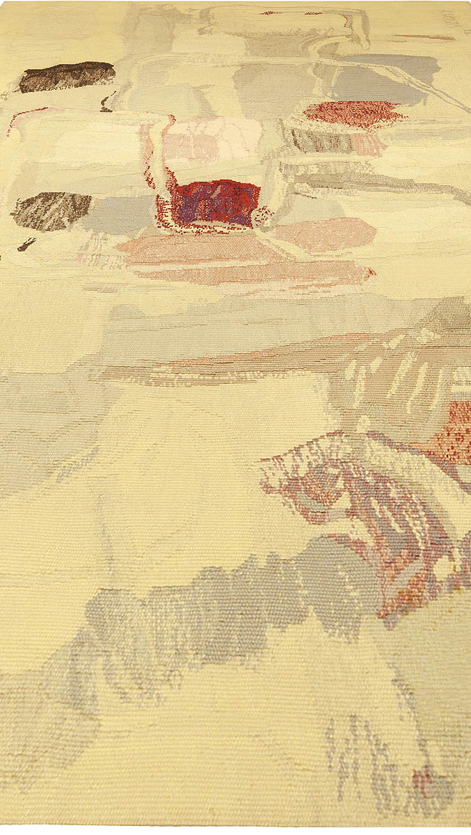 Modernist Rug in Shades of Pink, Red, Blue and Cream BB5086