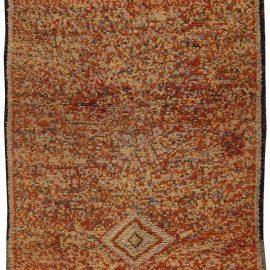 Vintage Tribal Moroccan Rug in Tweed Wool BB6204