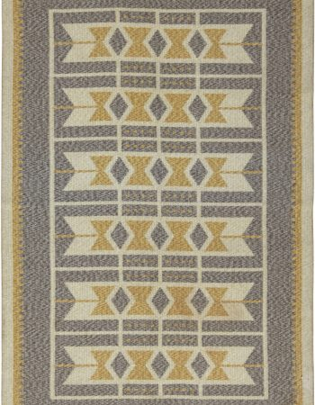 Vintage Swedish Flat Weave Double Sided Rug BB6566
