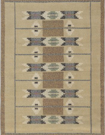 Vintage Swedish Flat Weave Rug BB6569