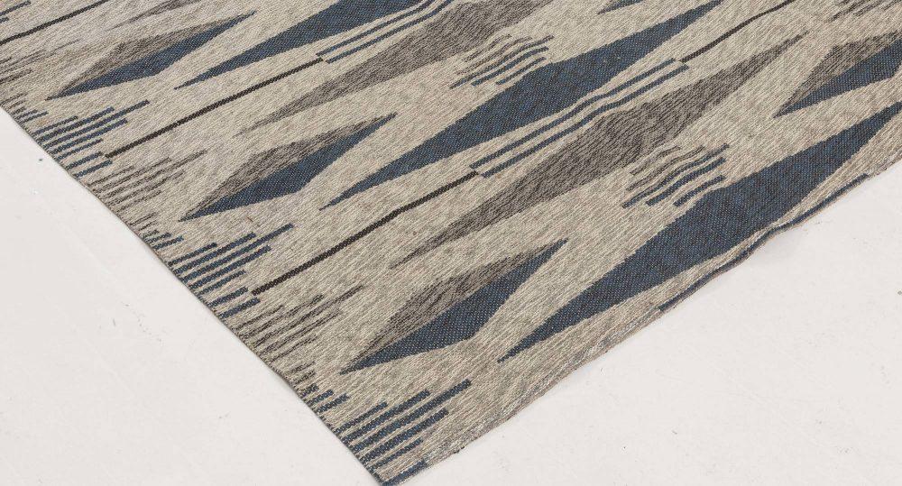 Vintage Swedish Flat Weave Double Sided Rug BB6510