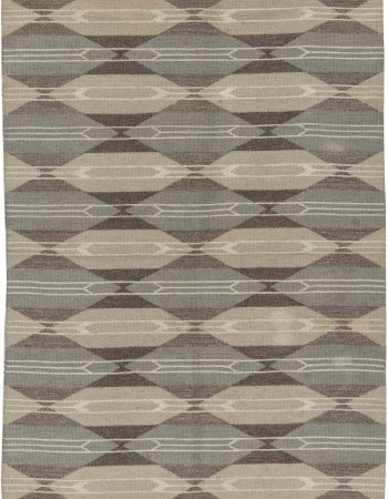 Vintage Swedish Flat Weave Double Sided Rug BB6512