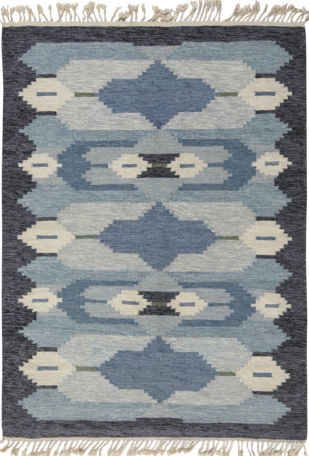 Vintage Swedish Flat Weave Rug BB6549