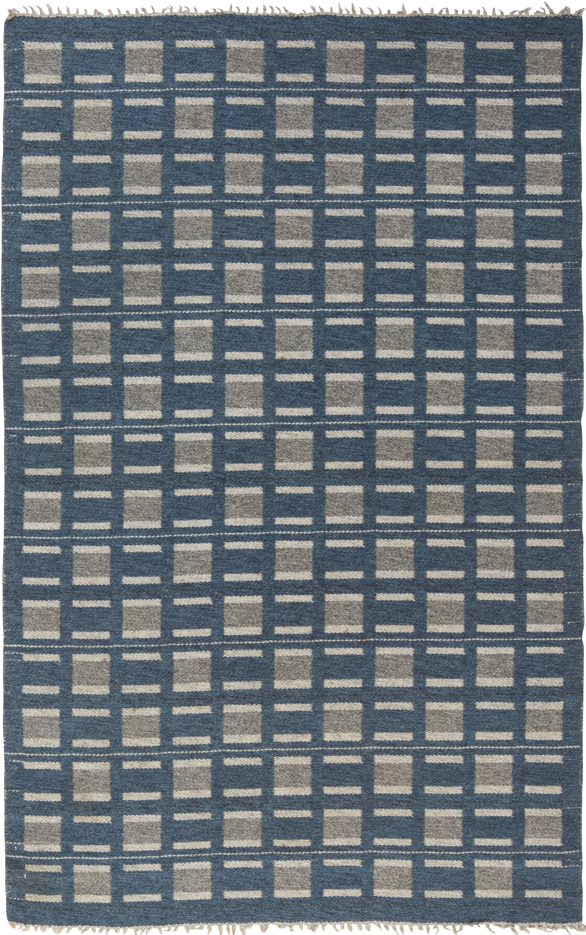 Vintage Swedish Flat Weave Rug BB6565