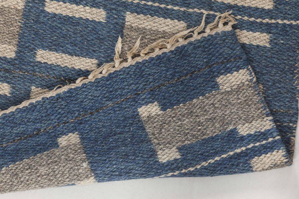 Vintage Swedish Flat Weave Rug BB6565