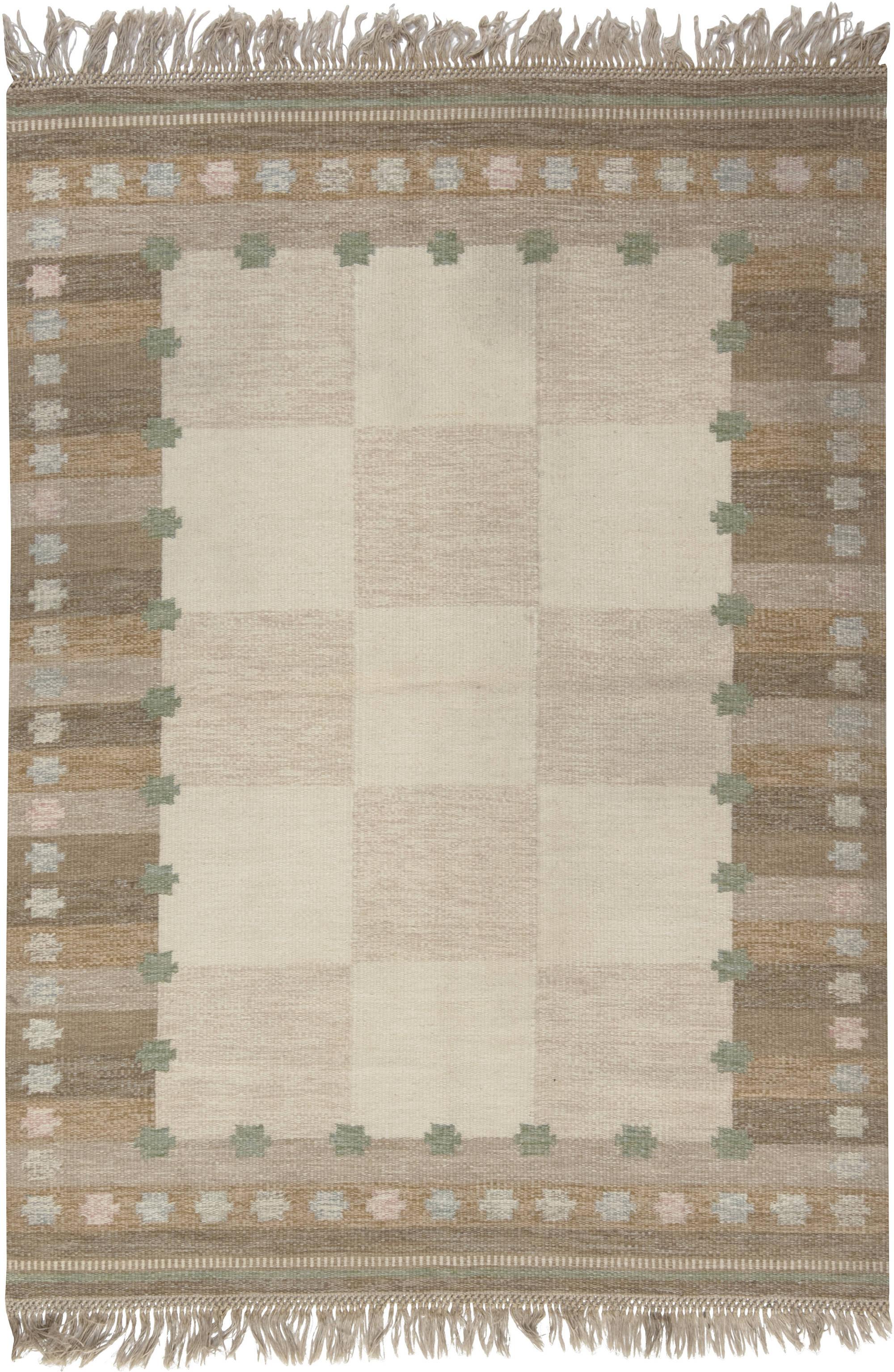 Vintage Swedish Flat Weave Rug BB6571