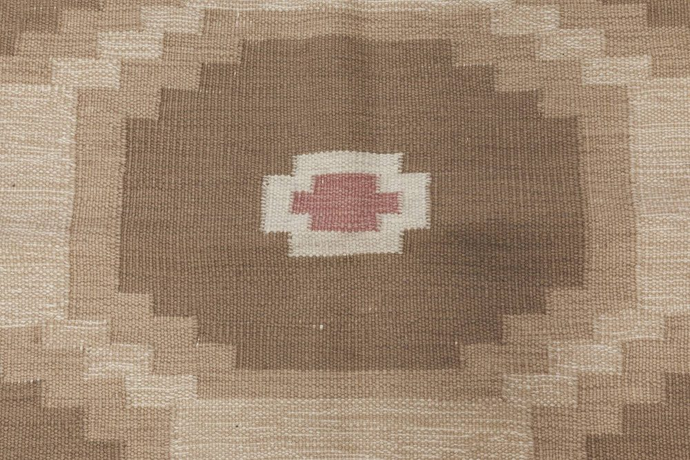 Vintage Swedish Flat Weave Rug BB6573