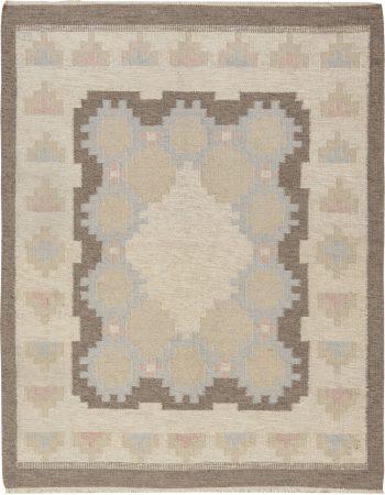Vintage Swedish Flat Weave Rug BB6576