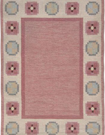 Vintage Swedish Flat Weave Rug BB6578