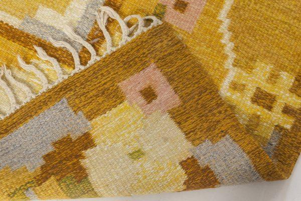 Vintage Swedish flat weave rug signed by Ingegerd Silow BB6579