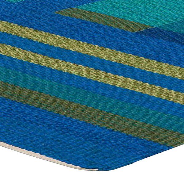 Weinlese-schwedische Flachgewebe Teppich Signed AB BB5383